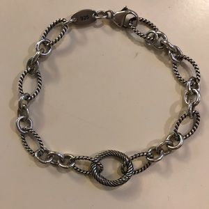 James Avery Oval Twist Changeable Charm Bracelet
